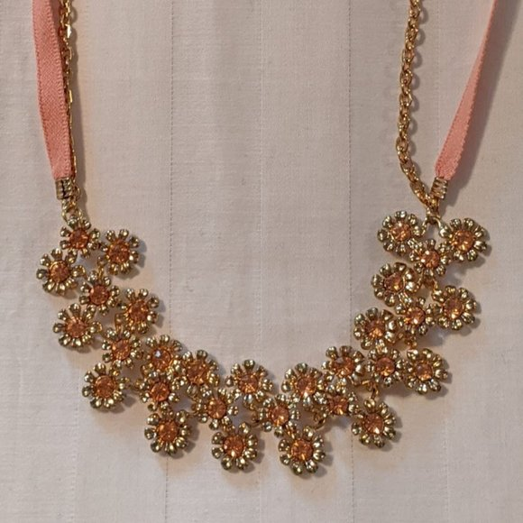 LC Lauren Conrad Jewelry - NWOT Lauren Conrad Flower Ribbon Necklace